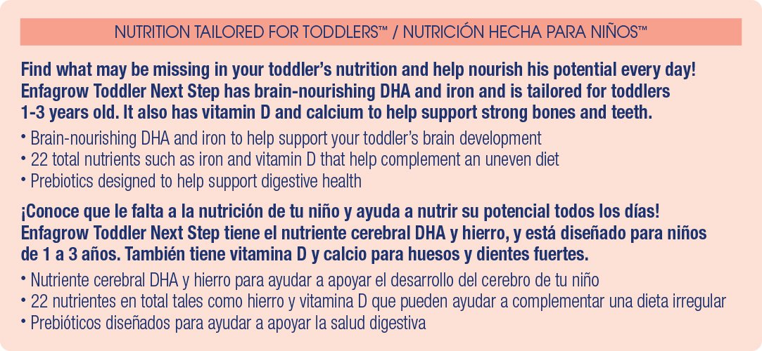 Enfagrow PREMIUM Toddler Next Step Natural Milk Powder, 32 Ounce Can, Pack of 6 (package may vary ) by Enfagrow Next Step (Image #4)