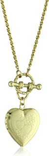 product image for 1928 Jewelry Brass Heart Toggle Locket Necklace