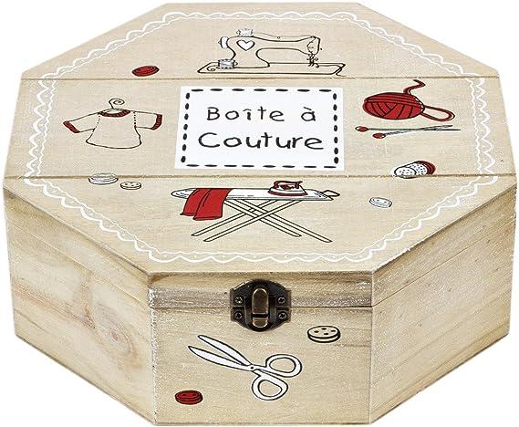 Tarro de galletas de 8 – Caja rectangular madera tapa costurero Caja Bote ftalatos iere 3,5 L: Amazon.es: Hogar
