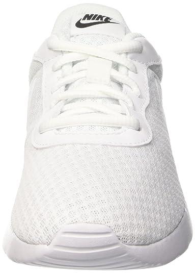 Amazon.com   NIKE Womens Tanjun White/White/Black Size 6 B(M) US   Fashion Sneakers
