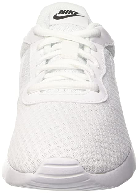 Amazon.com | NIKE Womens Tanjun White/White/Black Size 6 B(M) US | Fashion Sneakers