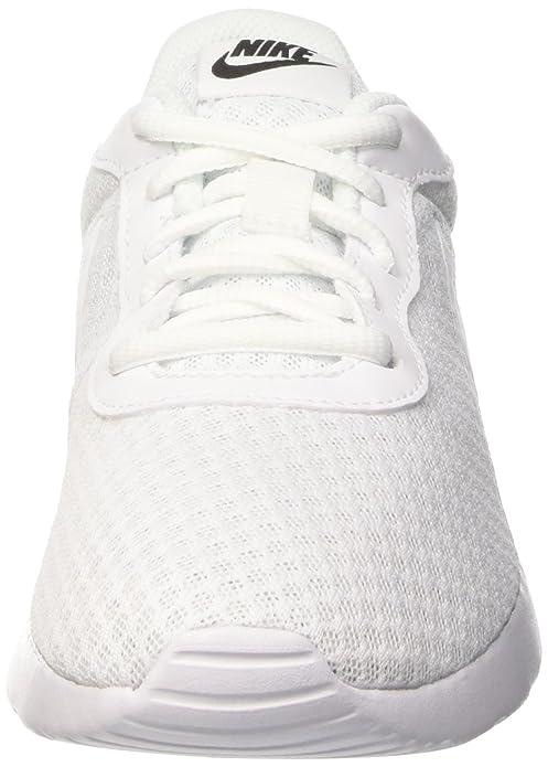 Amazon.com | NIKE Womens Tanjun White/White/Black Size 6 B(M) US | Fashion Sneakers