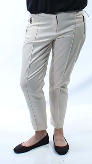 542b8f2e476 Image Unavailable. Image not available for. Color  Jones NY Womens New 8532  Ivory Zippered Skinny Wear to Work ...