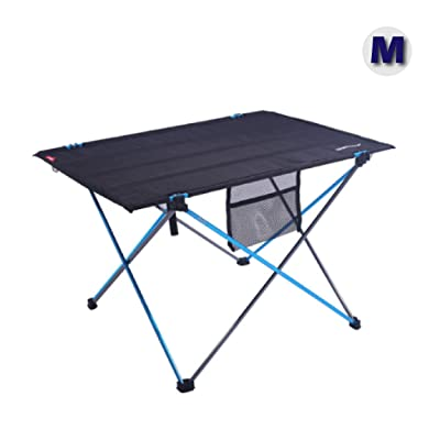 Azarxis Lightweight Portable Camping Folding Table, Compact Roll Up Collapsible Tables with Carrying Bag for Outdoor Beach Camping Picnics Cookouts Backpacking Backyards BBQ : Sports & Outdoors