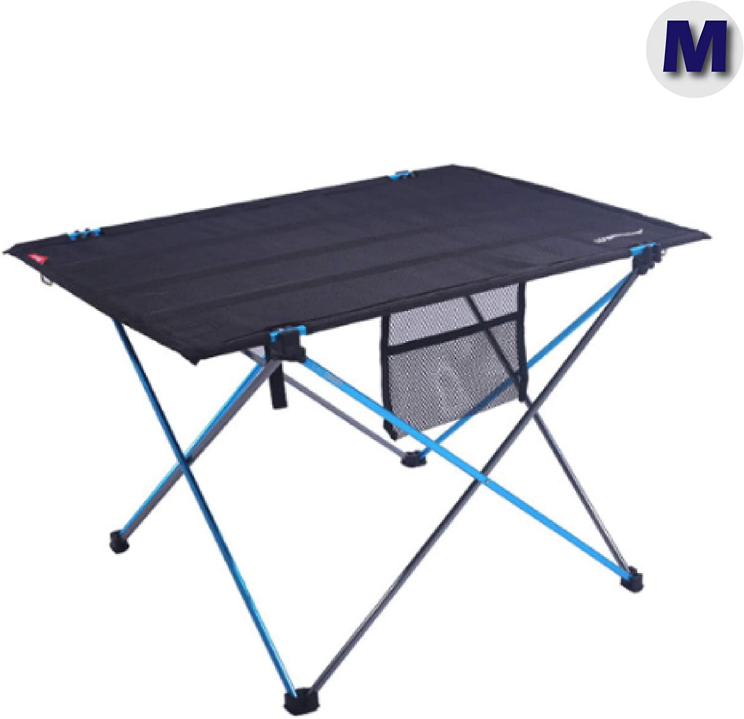 Azarxis Lightweight Portable Camping Folding Table Compact Roll Up Collapsible Tables with Carrying Bag for Outdoor Beach Camping Picnics Cookouts Backpacking Backyards BBQ