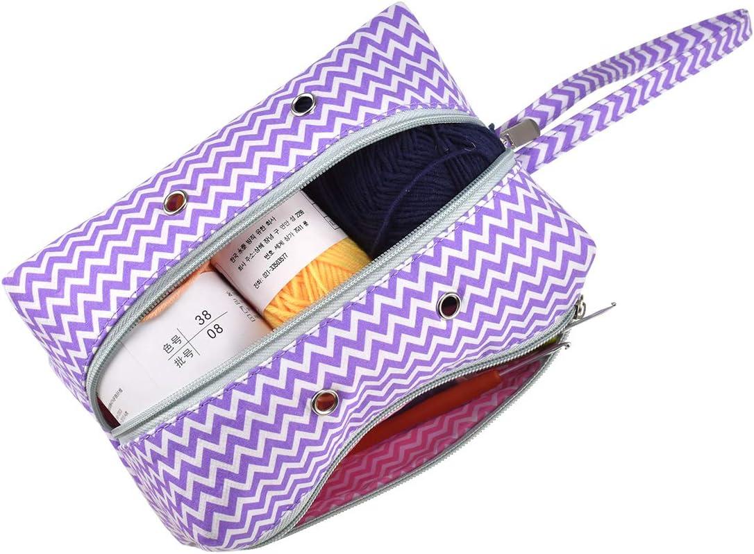 Ready To Ship Premonition Medium Knitting /& Crochet ProjectToiletry Box Bag