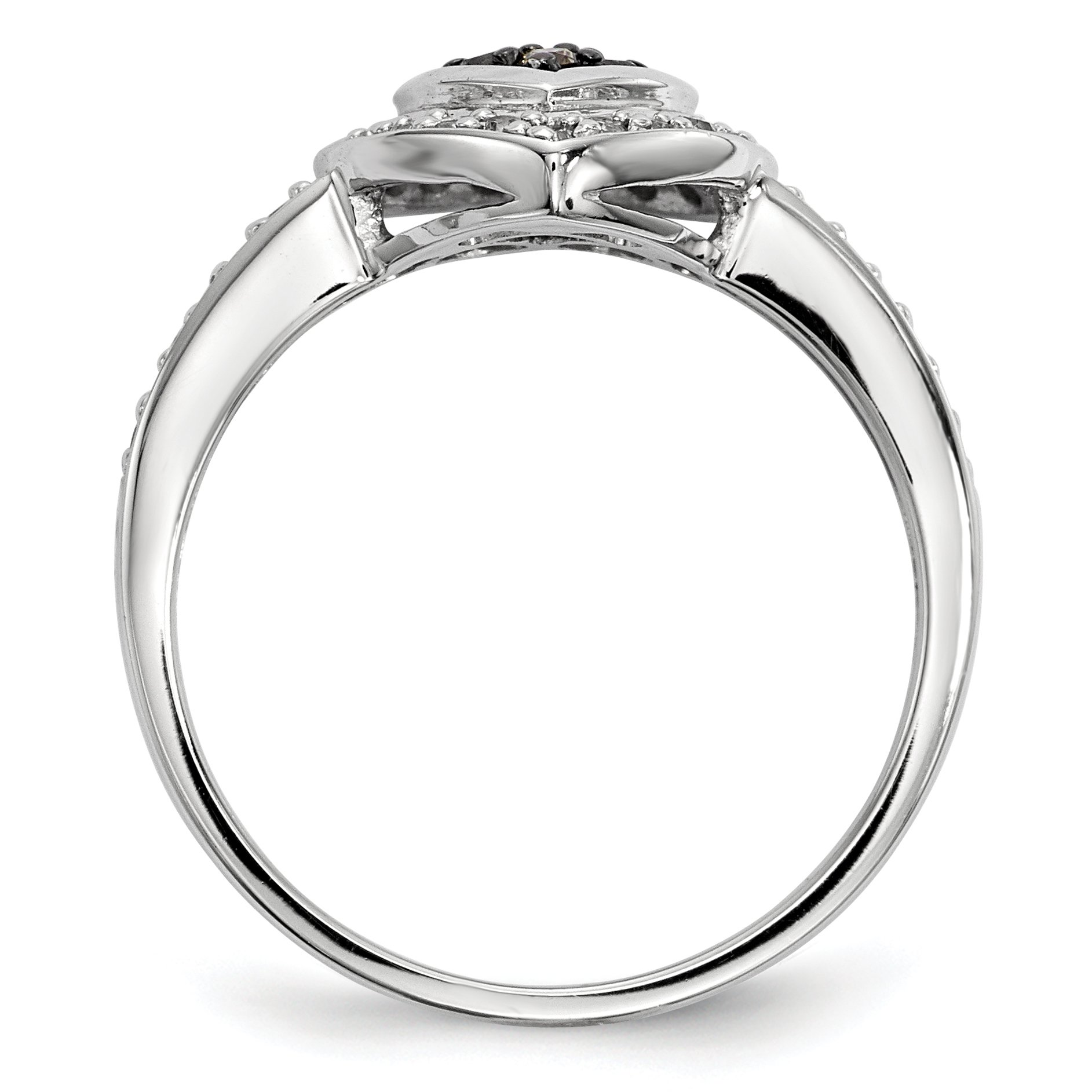 ICE CARATS 925 Sterling Silver Champagne Diamond Small Heart Band Ring Size 8.00 S/love Fine Jewelry Gift Set For Women Heart by ICE CARATS (Image #2)