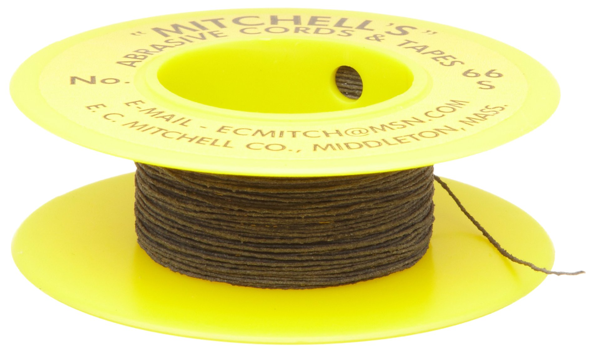 Mitchell Abrasives 66-S Round Abrasive Cord, Silicon Carbide 280 Grit .012'' Diameter x 25 Feet