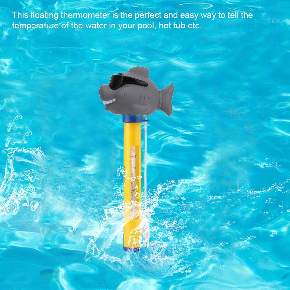 idalinya Pool Thermometer Floating Thermometer Swimming Pool Hot Tub Cute Animal Outdoor Indoor Bath Water Hot Tub Spa Jacuzzi Pond Shark