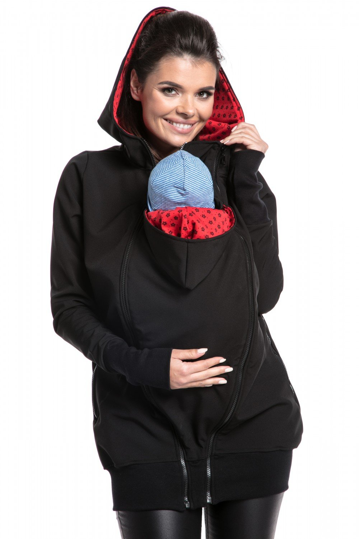 Zeta Ville - Giacca cappuccio softshell premaman pannello estraibile donna- 056c carrier_jacket_056