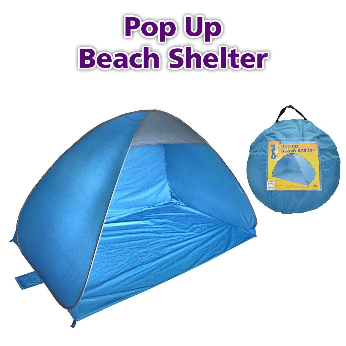 Laeto Sports & extérieur Bleu Polyester Pop Up Tente de Plage pour abri Soleil ou Pique-Nique