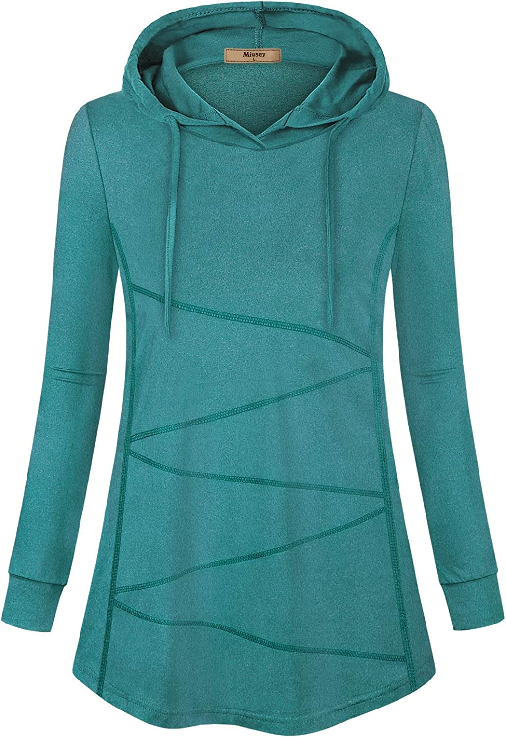 Miusey Women's Long Sleeve Sport Workout Tops Active Pullover Hoodie