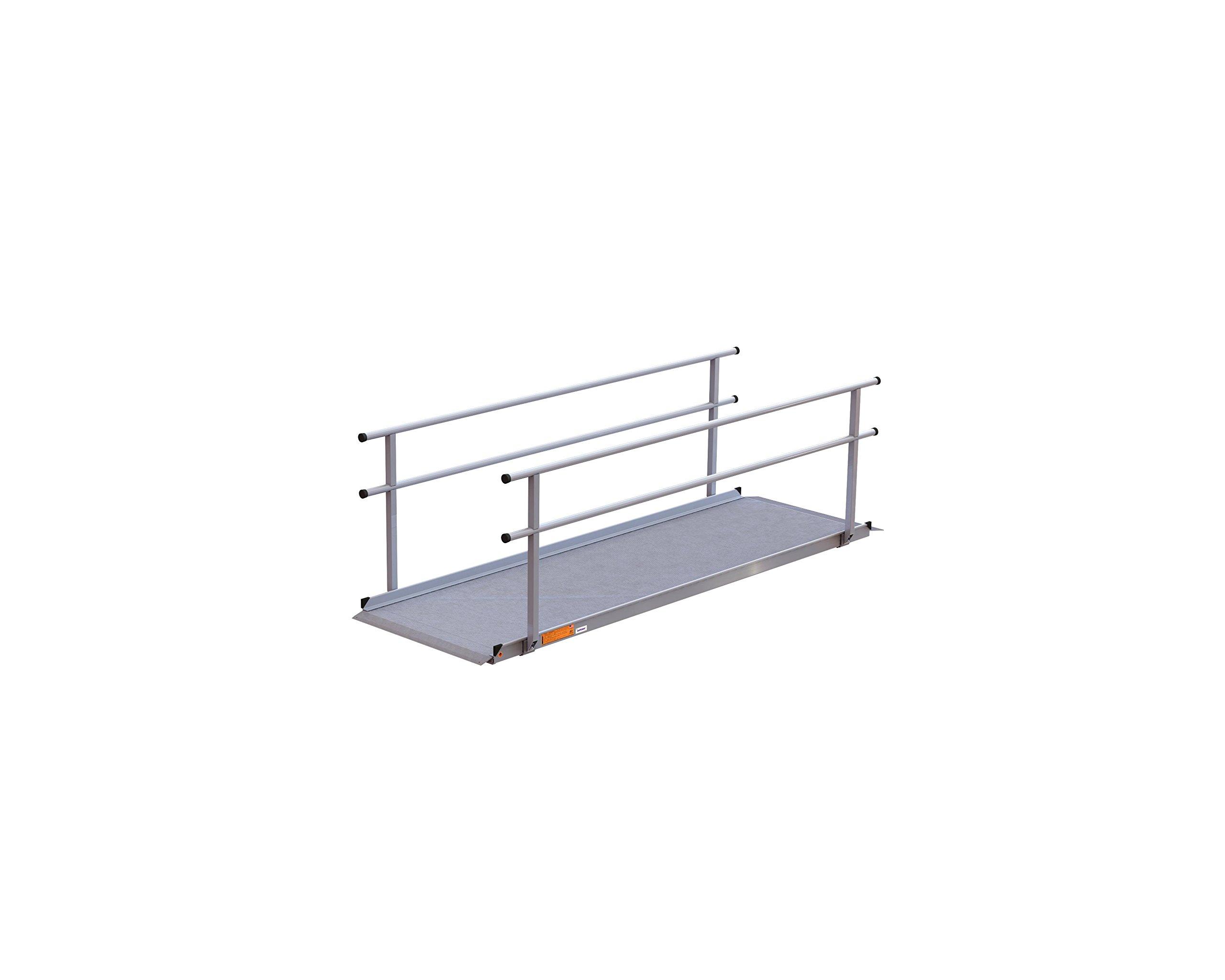 EZ-ACCESS Gateway Ramp with Handrails, 10 Feet