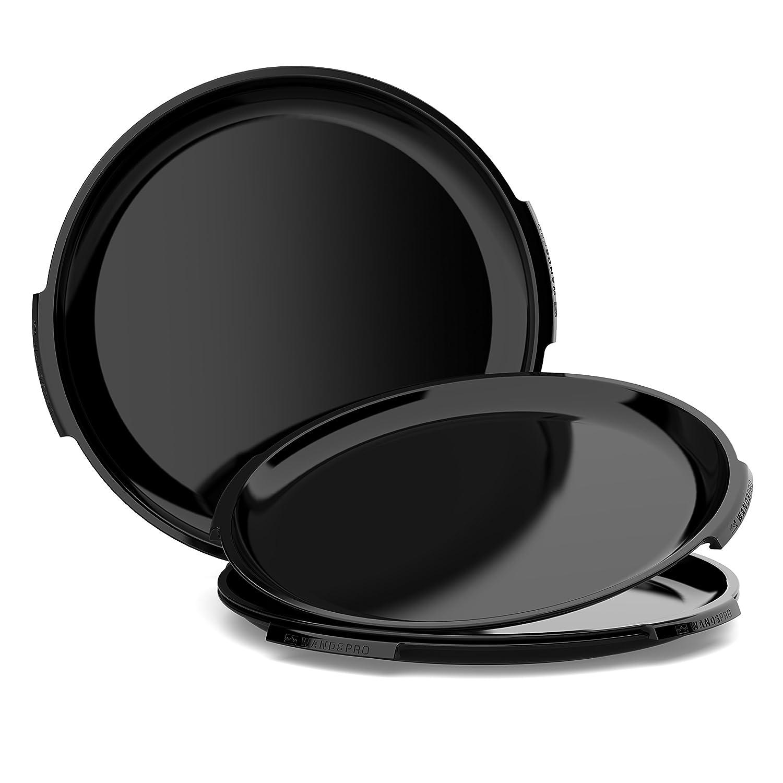 wandspro – clipcrocプレートセット – ' clip-together 'プレート(パックof 4 ) – Perfect for BBQ、キャンプ、Caravansとピクニック B0764497N6 ブラック(Midnight Black) ブラック(Midnight Black)