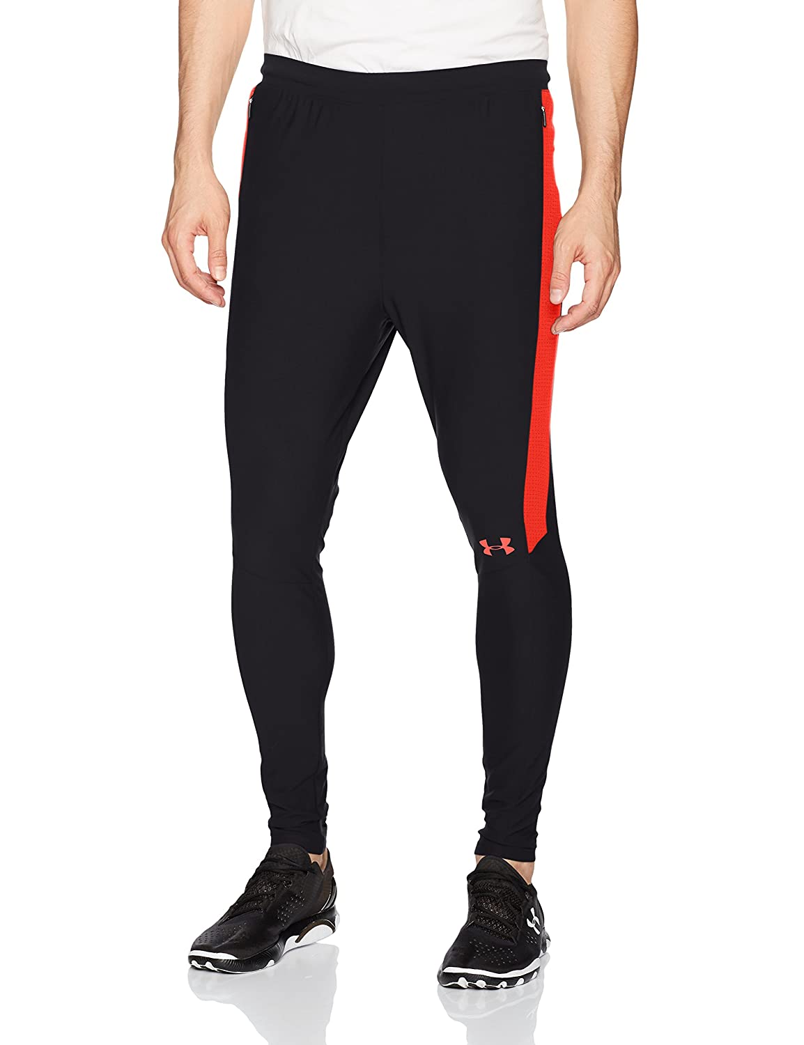 016 //Neon Coral Under Armour Mens Threadborne Pitch Pants,Anthracite Large