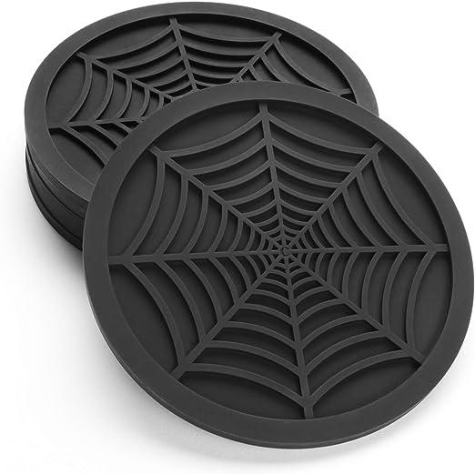 spiderweb drink coasters