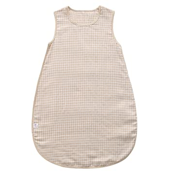 size 40 81a69 87023 Grandwish Baby Organic Cotton Sleeping Bag Summer Wearable Blanket, Check,  3-12M