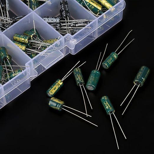 10 Werte 100 Stücke Elektrolytische Kondensatoren Sortiment Kit 10v 63v 10uf 470uf Diy Hochwertiger Audiokondensator Assorted Kit Gewerbe Industrie Wissenschaft