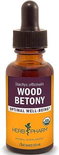 Herb Pharm Certified Organic Wood Betony Liquid Extract – 1 Ounce