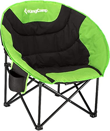 Camping Chair Cup Holder Steel Frame Folding with Carry Bag
