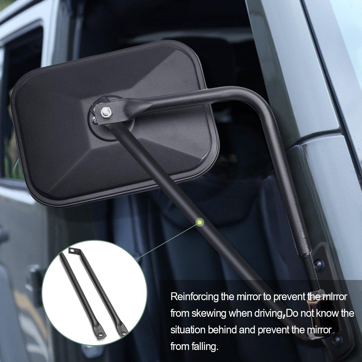 100 Doorless Jeep Mirrors Side Mirror Relocation