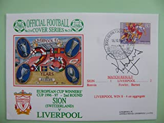 Sportagraphs Rob Jones Signed Autograph First Day Cover FDC Liverpool V Sion Ecwc 95/96 & COA