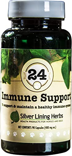 Silver Lining Herbs Dog Immune Support Made with Natural Herbs Designed to Aid and Support and Boost a Dogs Strength, Stamina, and Endurance Made in The USA