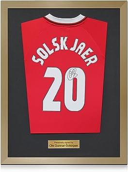 Enmarcado Ole Gunnar Solskjaer Firmado 1999 Manchester United Liga ...