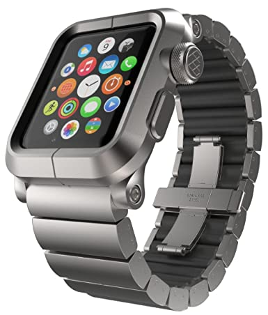 newest ace41 d2758 LUNATIK EPIK-013 Aluminum Case and Metal Link Band for Apple Watch ...