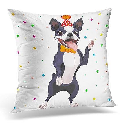 Cushion Cover Dog Wear Headphones Pillow Case Cushion Cover Office Pillowcase Sofa Home Decor Table & Sofa Linens