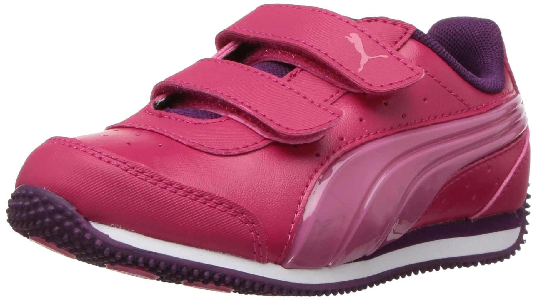 PUMA Unisex-Kids Speed Lightup Power V Sneaker, Love Potion-Rapture Rose, 2.5 M US Little Kid