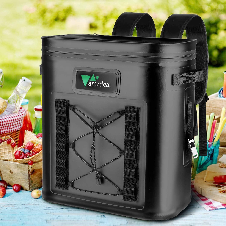 amzdeal Mochila Nevera - Mochila Refrigeradora Térmica y Impermeable, Bolsa Anti-Fugas para Almuerzo y Senderismo para Hombres y Mujeres, Múltifuncional para Viaje, Playa, Picnic, Pescar, 12L