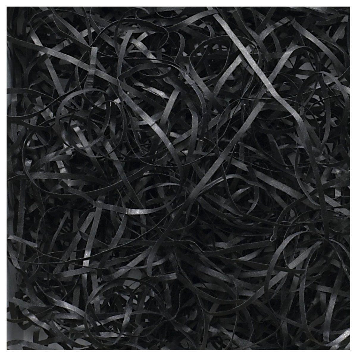 SODIAL(R) Luxury Shredded Paper Hamper Fill Basket Filler Shred Gift Filling Tissue 100g Black