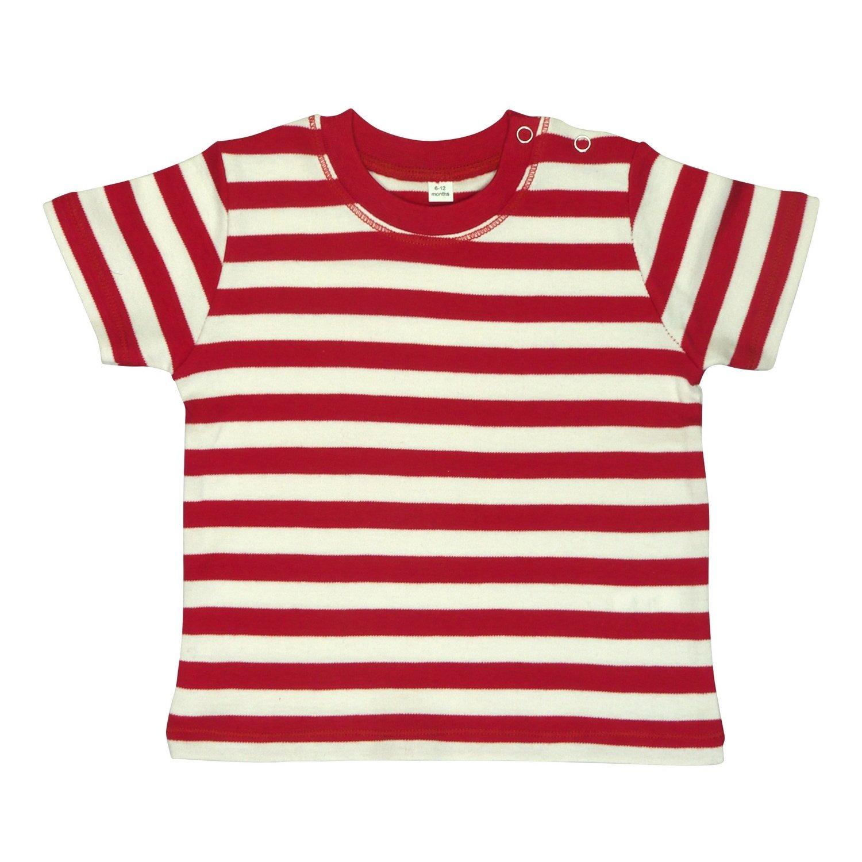 BABYBUGZ Baby Unisex Stripy Short Sleeve T-Shirt