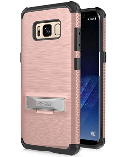 san francisco 5d98c c3bc9 Samsung Galaxy S8 Case, ProCase Kickstand Hybrid Protective Cover Stand  Armor Case for Samsung Galaxy S8 2017 -Rose Gold