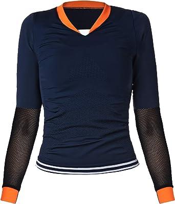 Camiseta Deportiva para Mujer IDAWEN. Camiseta de Manga Larga tecnología Seamless: Amazon.es: Ropa y accesorios