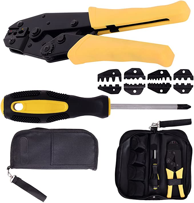 Details about  /Wire Crimper Tools Kit Set Multitool Engineering Ratchet Terminal Crimping Plier