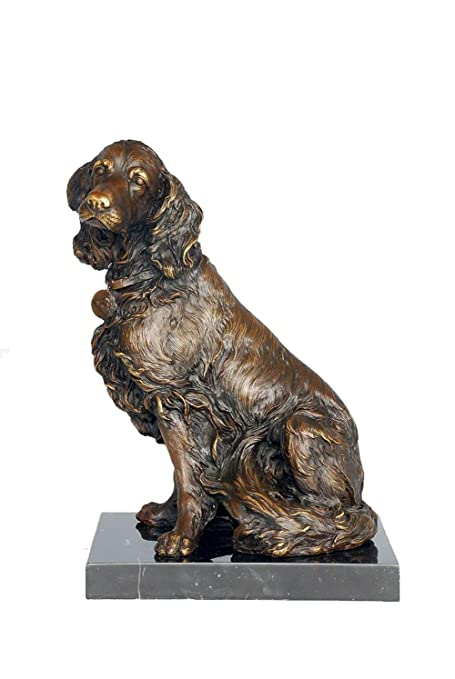 Merveilleux Toperkin Bronze Statues Animal Sculptures Dog Garden Statue Metal Figurine  Collection TPAL 216