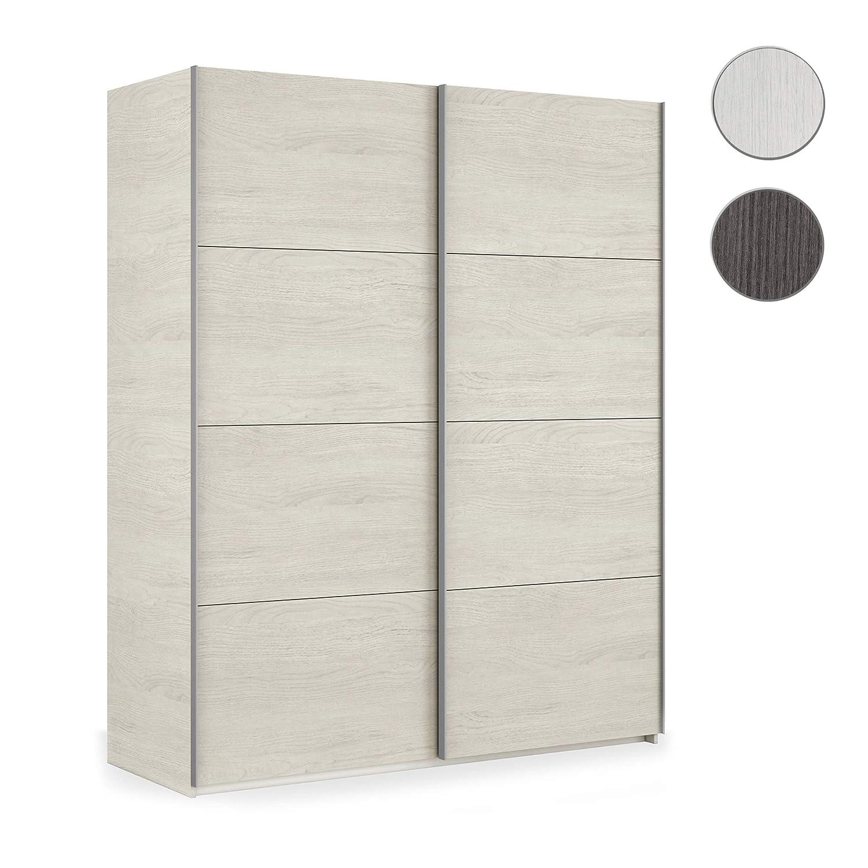 Habitdesign ARM150Y Armario Dos Puertas correderas, Modelo Hera, Blanco Alpes, 150 x 200 x 60 cm