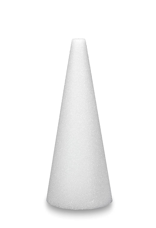 FloraCraft Styrofoam 2 Piece Cone 2.8 Inch x 5.8 Inch White Darice C63WS/24/2
