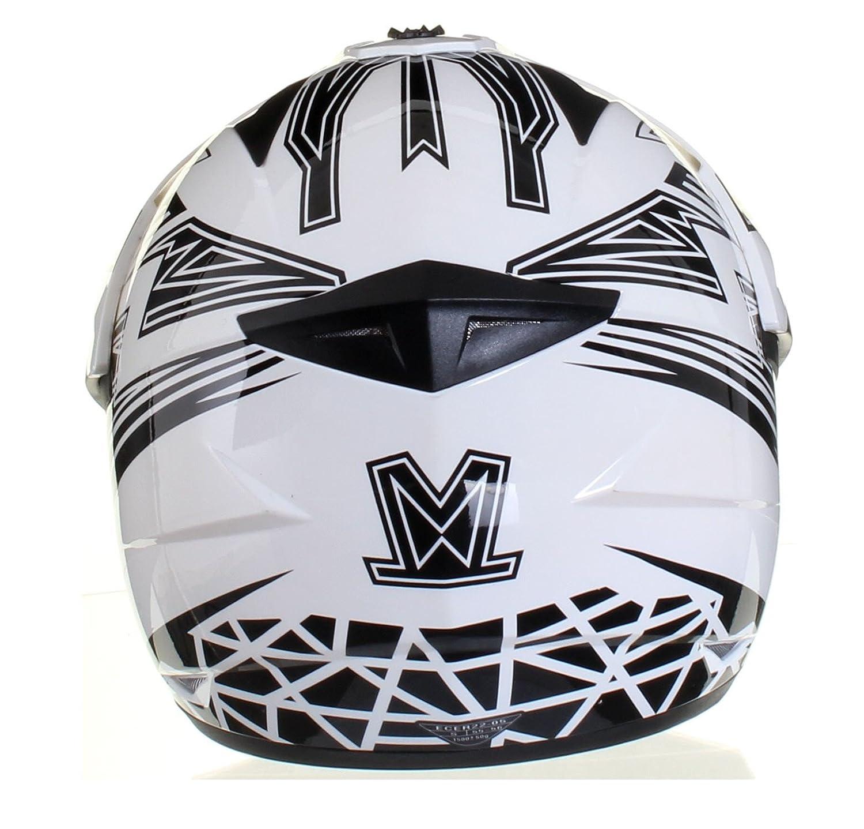 Amazon.es: Qtech Viper Casco protector para motocross / todoterreno / enduro / MX - Negro / rojo / naranja / azul - Negro - M (57-58 cm)