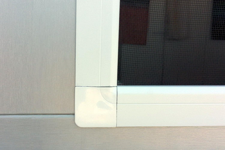 JAROLIFT Moustiquaire avec cadre SlimLine pour fen/être 110 x 150cm blanche