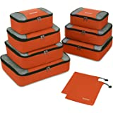 Gonex Travel Packing Cubes, 5 Set / 9 Set(XL/L/M/S/Shoe Bag) Travel Luggage Organizers