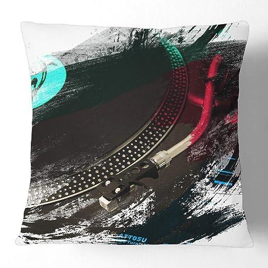 Big Box Art - Cojín Decorativo con Funda para Tocadiscos de DJ V2 ...