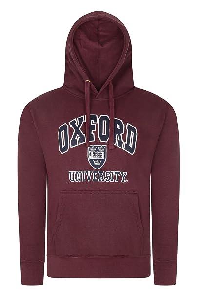 Oxford University - Sudadera con Capucha - para Hombre Granate Small