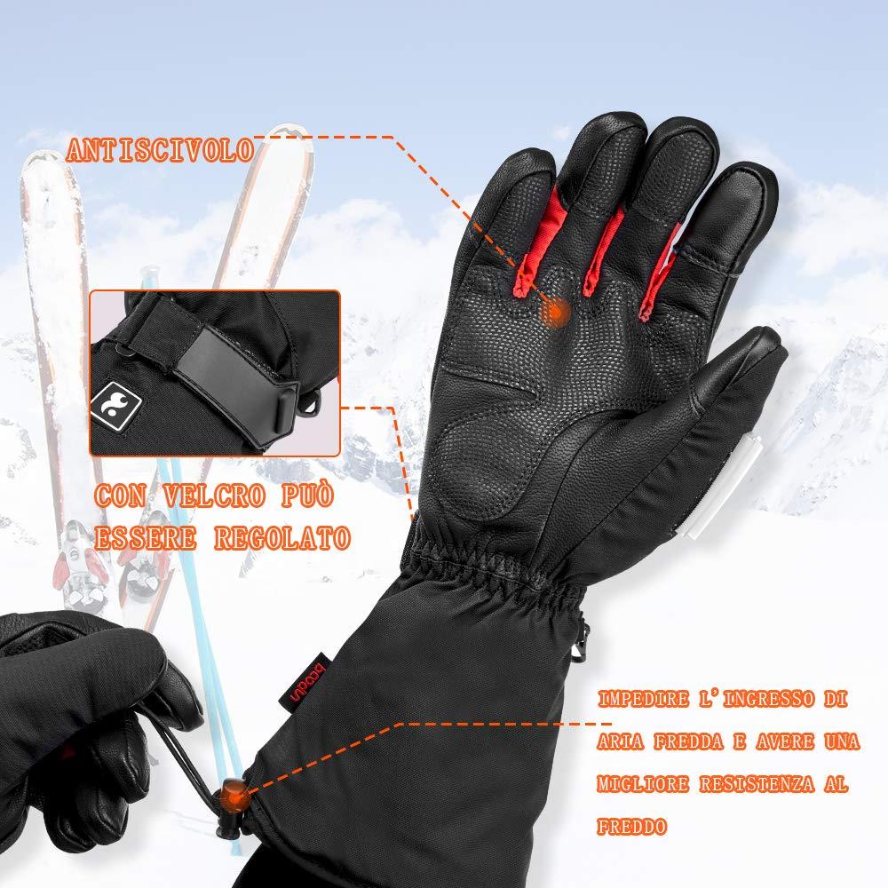 CE Omologati Impermeabili Invernali Guanti Riscaldabili Batteria Agli Ioni di Litio Polimerica per Uomo Donna Guanti Riscaldati Moto