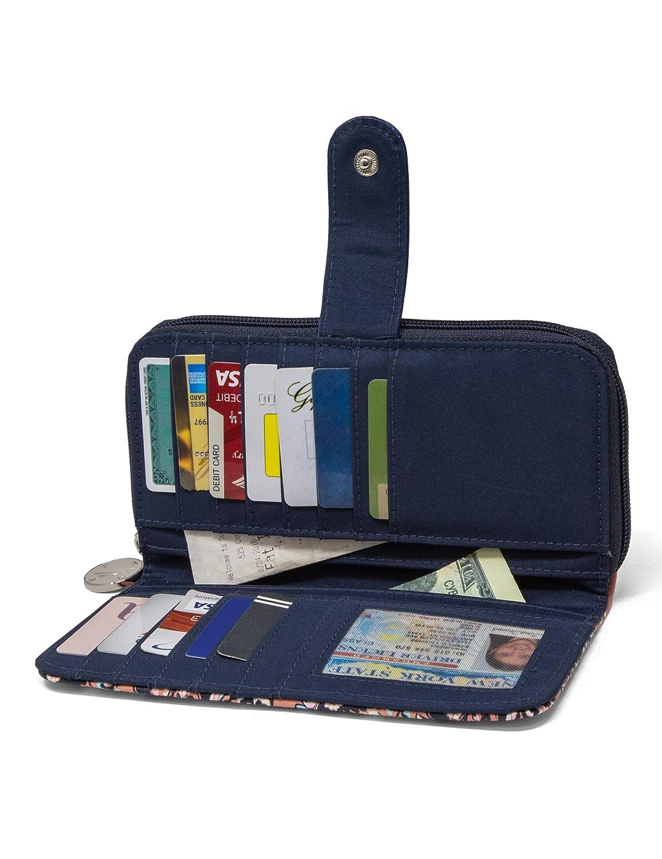 Plum Nautica Be Shore Womens Wallet RFID Blocking Zip Around Clutch