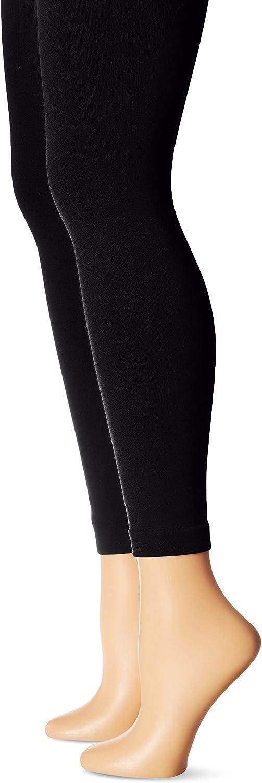 MUK LUKS Women's Fleece Lined 2-Pair Pack Leggings