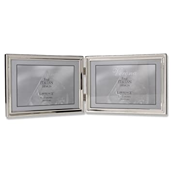 Amazoncom Lawrence Frames Polished Silver Plate 5x7 Hinged Double