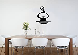 Sweet Gentle Cake Cupcake ?herry Cafe Dining Room Kitchen Decor Wall Vinyl Decal Art Sticker Home Modern Stylish Design Interior Decor for Any Room Smooth and Flat Surfaces Housewares Murals Window Graphic Living Room (3833)